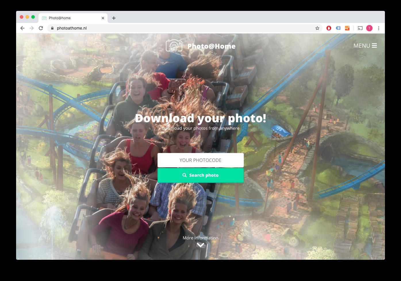 Webportal voor bestellen foto's